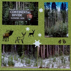 Yellowstone Park Scrapbook Layout