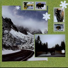 Yellowstone National Park Scrapbook Layout & Embellishment Ideas