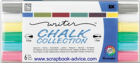 Scrapbooking Pens Zig Chalk Collection