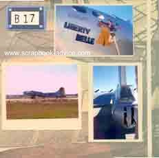 B-17 Scrapbook Layout