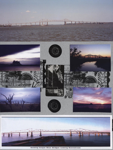 Charleston SC Scrapbook Layout Bridge 2 Left