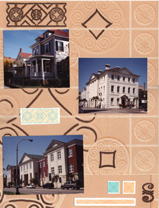 Charleston SC Scrapbook Layout