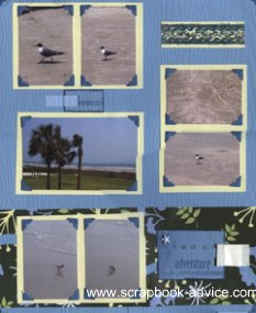 Charelston Beah Scrapbook Layout