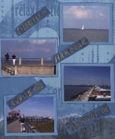 Charleston SC Harbor Scrapbook Layout