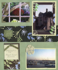 Charleston SC Houses Scrapbook Layout
