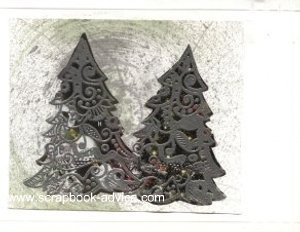 Cloisonne Tree Stamp Card