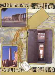 Egyptian Scrapbook Layout of Karnak