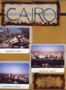 Egyptian Scrapbook Layout of Cairo