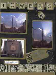 Egyptian Scrapbook Layout of Cairo Towers
