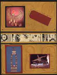 Egyptian Scrapbook Layout showing photos of artifacts from King Tut's Tomb