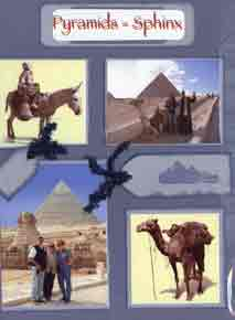 Egyptian Scrapbook Layout showing photos of the Pyramids and The Sphinx