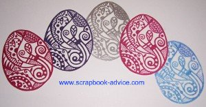 Rubber Stamp Embossing with Michael Strong Closienne Eggs