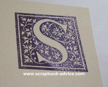 Rubber Stamp Embossed Heated Image