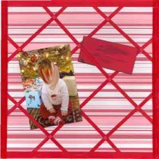 French Notice Board Scrapbook Layout