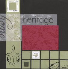 Heritage Generations Scrapbook Layout