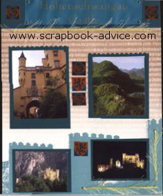 Germany Scrapbook Layout Hohenschwangau Castle