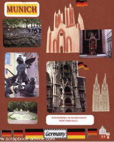 Germany Scrapbook Layout Munich