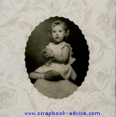 Heritage Scrapbook Baby Layout