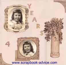 Heritage Scrapbook Child Layout