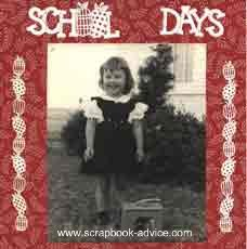 Heritage Scrapbook Layout Child