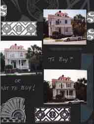 Charleston SC Gates Scrapbook Layout