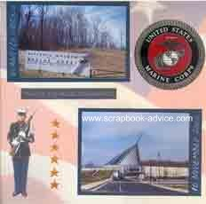 Marines Scrapbook Layouts