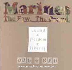 Military Scrapbook Layout Marines