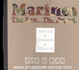 Marines Cropped Photo Scrapbook Title