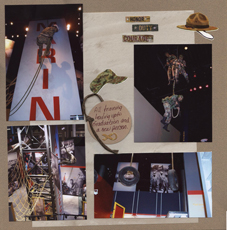 Marines Scrapbook Layout