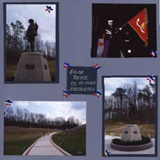 Marines Scrapbook Layout using Sketch