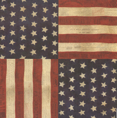 Military Scrapbook Flag Paper