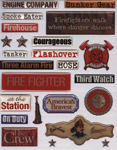 Firefighter Scrapbook Stickers