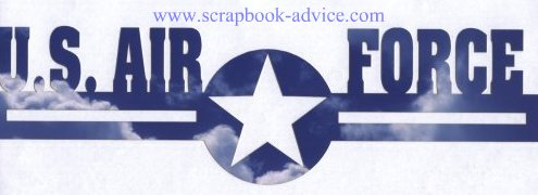 Scrapbook Die Cut Air Force