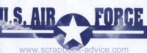 Air Force Cropped Photo Scrapbook Title