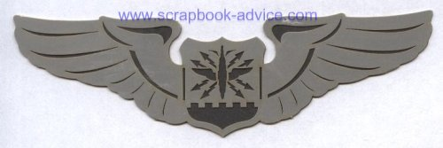 Scrapbook Die Cut Air Force Wings