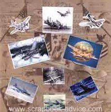 Heritage Military Photo Layout