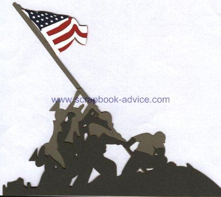 Scrapbook Die Cut Iwo Jima