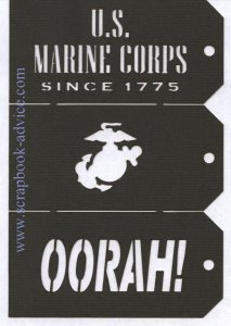 Scrapbook Die Cut Marines Tags