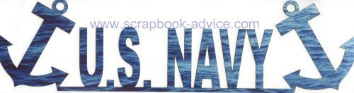 Scrapbook Die Cut Navy Title