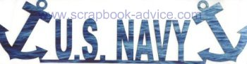 Military Cropped Photo Scrapbook Title