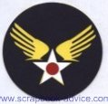 Scrapbook Die Cut Army Air Corps