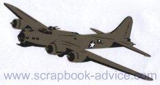 Scrapbook Die Cut B-17