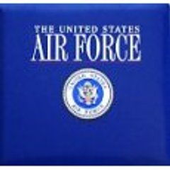 Milirary Air Force Scrapbook Album