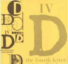 Scrapbook Paper Letter D