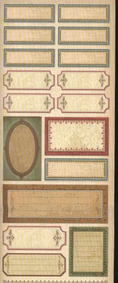 Heritage Scrapbook Stickers