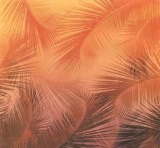 Scrapbook Paper Hawaii Palms Morning in shades of orange