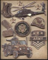 Military Scrapbook Army Stickers