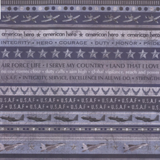 Air Force Scrapbook Paper