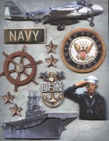 Military Scrapbook Navy Stickers