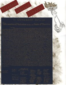 Patriotic Scrapbook Layout